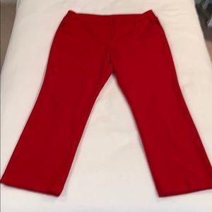 Red Worthington Modern Fit dress pants size 12